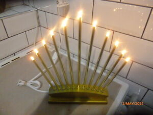 LOVELY : FAN SHAPE CANDLE ARCH SHAPE LIGHT : GOLD EFFECT  :