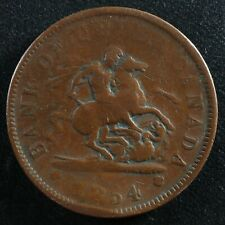 PC-6C2 One Penny 1854 token Crosslet 4 Bank of Upper Canada Breton 719