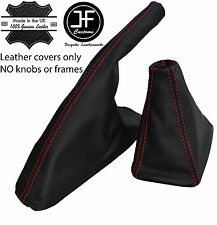 Schaltsack & Handbremssack Leder passen SEAT IBIZA CORDOBA ROT