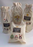 Teachers Christmas thank you gift bag 26x21cm /Wine bag - personalised any name