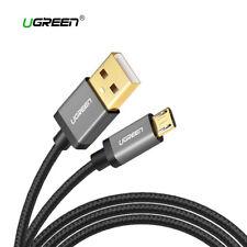 Cable Micro USB carga rapida reforzado nylon UGREEN negro gris metalizado