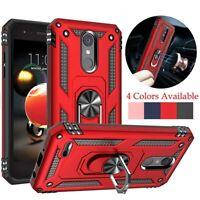 For LG Rebel 4 LTE Shockproof Hybrid Hard Armor Stand Protective Slim Case Cover