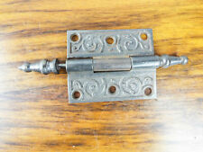 "Vintage Solid Metal Door 3"" Hinge Heavy Duty Decorative Antique Grey Hardware"