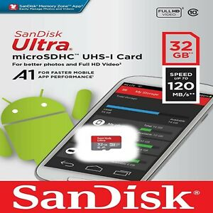 SanDisk Ultra Micro SD 32GB Class 10 SDHC SDXC TF U1 Memory Card Adapter 120MB/s