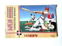 RBI BASEBALL Tengen (Nintendo NES) Original Instruction Manual Booklet Book