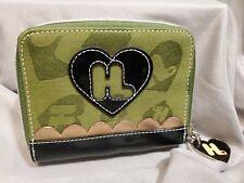 Harajuku Lovers By Gwen Stefani Wallet Green Hearts Canvis