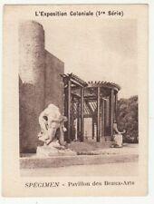 Exposition Coloniale Pavillon Beaux Arts ancienne chromo image vache qui rit