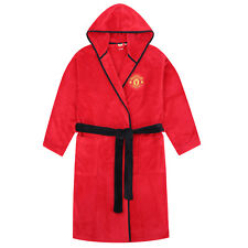 Manchester United Kids Bath Robe Size 5/6 Yrs Gown Red Official Licensed Product