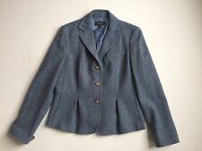 TALBOTS 10 Wool Blazer Blue Flare Lined Women's Large
