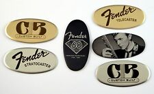 Guitar Badge for headstock, amplifier or cases - 1x2 Oval - Free Engraving