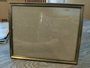 Vintage Brass Tone Picture Frame 8 x 10