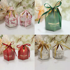10x  Candy Chocolate Gift Box Wedding Favor Boxes With Ribbon Decor