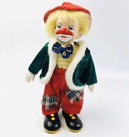 "Vintage Parade of Clowns 12"" Porcelain Boy Clown Doll"