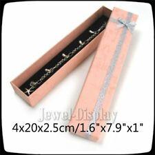 20 Pink Gift Packaging Favour Boxes Pen Bracelet Watch Jewellery 4x20x2.5cm
