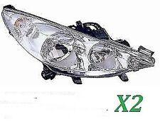 COPPIA FARI FANALE PROIETTORE ANT DX-SX PEUGEOT 207 DA 2006>S/FENDI