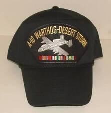 A-10 Warthog Desert Storm Emblematic High Crown Trucker Military Style Ball Cap.