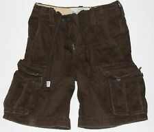NWT! ABERCROMBIE and Fitch Mens Vintage Classic Cargo Shorts Brown 28