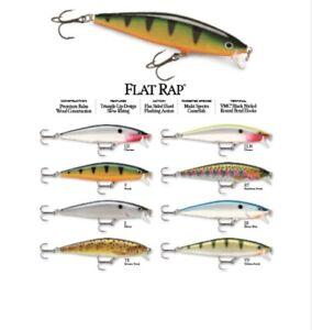 Rapala Flat Rap // FLR08 // 8cm 7g Fishing Lures (Choice of Colors)