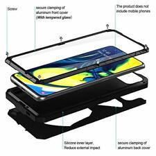 Samsung Galaxy A80 Case Aluminum Shockproof Cover Screen Protector Bumper Black