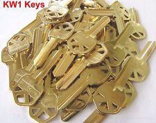 Key Blanks KW1 for Locksmith Lot Of 100 Key kwikset KW1 Brass Brand New
