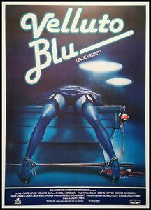 """BLUE VELVET Original Movie Poster 39x55"""" 2Sh Italian LINEN BACKED DAVID LYNCH"""