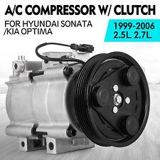 New A/C Compressor FITS: 1999 00 01 02 03 04 2005 Hyundai Sonata V6 2.5L & 2.7L