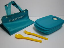 New Tupperware OTG Microwave Reheatable 1L Divided Lunch Box Cutlery Pouch Set
