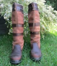 Dubarry Galway brown leather country boots regular fit size 5.5 EUR 39