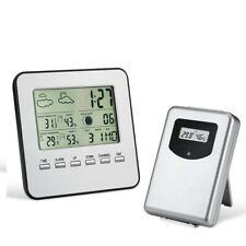 Wireless LCD Digital Thermometer Hygrometer Indoor Outdoor Weather Station Alarm