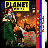 Planet Stories pulp Fiction collection, Science Fiction, Action, fantasy