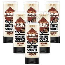 6 x ORIGINAL SOURCE SHOWER GEL TROPICAL COCONUT & SHEA BUTTER 250ml