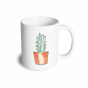 Cute Plant Mug Drawn Cactus Art Pocket Print Nature Cute Trendy Sweet