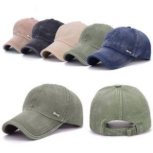 Men Women Vintage Casual Denim Peak Baseball Golf Hiking Cap Unisex Outdoor Hat