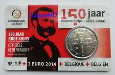 België speciale 2 euro 2014 Rode Kruis in Coincard Vlaams