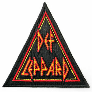 """DEF LEPPARD - """"TRIANGLE LOGO"""" - WOVEN SEW ON PACKED PATCH - OFFICIAL ITEM"""