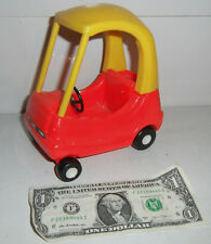 """LITTLE TIKES COZY COUPE CAR Dollhouse-Sized Red Yellow for 6"""" Tall Doll GUC"""