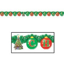 NEW Beistle 1-Pack Foil Merry Christmas Streamer for Parties, 4-1/4-Inch by 5-Fe
