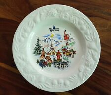 Chamonix Mont blanc collectible plate by Claude Faucanié (Made in France)