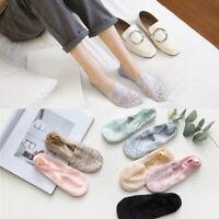 Women Lace Socks Boat Invisible Anti-Skid Low Cut No-show Slip Liner Slipper Acc
