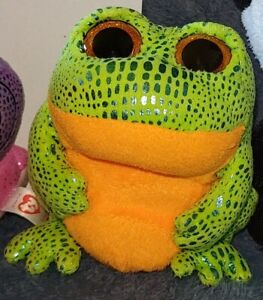 TY BEANIE BOOs - SPECKLES the frog - 13cm tall - various available