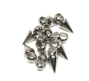 tiny hypoallergenic 304 stainless steel spike cone charms 7mm