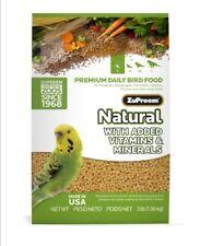 Zupreem natural keet diet pellet bird food VITAMINS MINERALS  parakeet 2.25lb