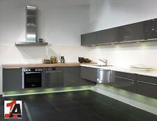 Designo Einbauküche L-Form Grafit Hochglanz Edition Fly Design