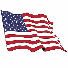 USA Wavy American Flag Old Glory Stars Stripes Red White Blue Pro America Decal
