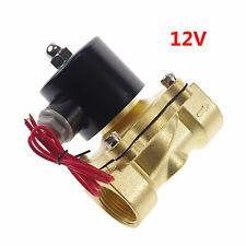 "12VDC Water Gas Air Fuel NC Solenoid Valve 1"" inch BSPP x 1"