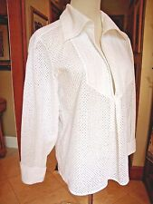 NWT CHANEL White Blouse Pullover 17CP55474 Cotton Toile 40, 8 10 M  FRANCE $3K