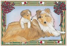 COLLIE MOM AND PUP HOLIDAY CARDS / 10 PACK