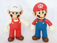 "Super Mario Brothers Bros 5"" Action Figure Fiery Fire Birthday Cake Topper Set"