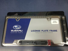 OEM Genuine Subaru Impreza Chome License Plate Frame SOA342L121 SPT logo Wrx Sti