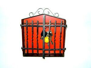 Vintage decorative Metal Storage Key Holder Hooks House Hanging Box Wall Mounted